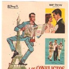 Cine: LOS CONFLICTOS DE PAPA PROGRAMA SENCILLO FILMAYER FRED MACMURRAY JANE WYMAN WALT DISNEY. Lote 7827230