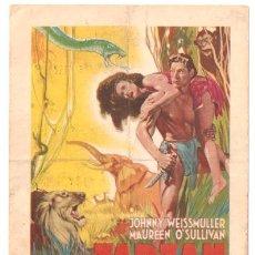 Cine: D TARZAN Y SU COMPAÑERA PROGRAMA TARJETA FRANCES JOHNNY WEISSMULLER MAUREEN O'SULLIVAN. Lote 11314753