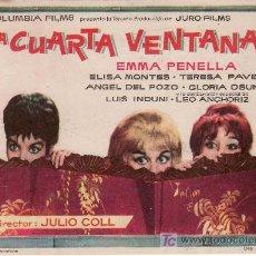 Cine: LA CUARTA VENTANA.COLUMBIA FILMS.SIN PROPAGANDA.. Lote 25759483