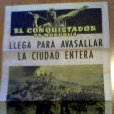 Cine: EL CONQUISTADOR DE MONGOLIA. Lote 26669329