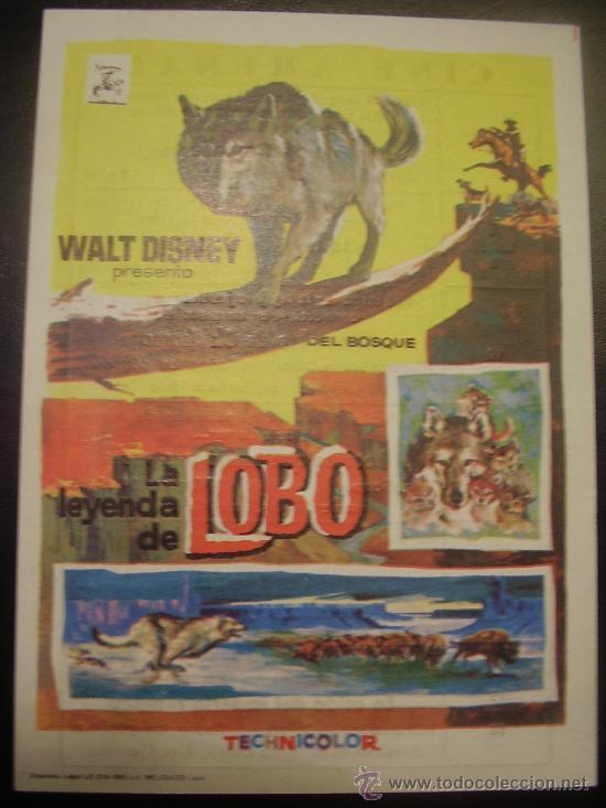 LA LEYENDA DE LOBO DE WALT DISNEY (Cine - Folletos de Mano)