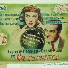 Cine: + LA PITONISA PAULETTE GODARD AÑOS 40. Lote 8189856