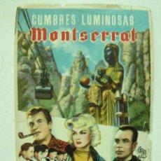 Cine: + CUMBRES LUMINOSAS MONTSERRAT AÑOS 40. Lote 8189909