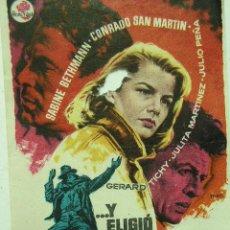 Cine: + VILARRODONA Y ELIGIO EL INFIERNO 1963. CINE PARROQUIAL CONRADO SAN MARTÍN. Lote 8190025