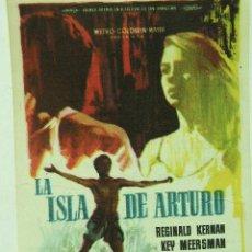Cine: + LA ISLA DE ARTURO 1963 PUBLICIDAD DE LA PELICULA POR LA PARTE DE ATRAS. Lote 8190054
