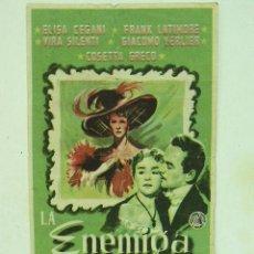 Cine: + BOBERA, LLEIDA , CINE CAPITOLIO, LA ENEMIGA, ELISA CEGANI, LERIDA. Lote 13182154