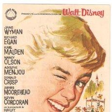 Cine: POLYANA PROGRAMA SENCILLO IZARO HAYLEY MILLS JANE WYMAN WALT DISNEY. Lote 8229639