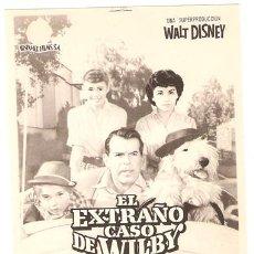 Cine: EL EXTRAÑO CASO DE WILBY PROGRAMA SENCILLO HISPAMEX FRED MACMURRAY JEAN HAGEN WALT DISNEY A. Lote 8311612