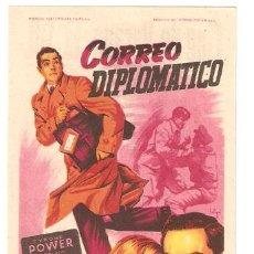 Cine: CORREO DIPLOMATICO PROGRAMA SENCILLO 20TH CENTURY FOX SOLIGO TYRONE POWER PATRICIA NEAL. Lote 8317999