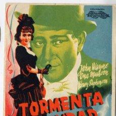 Cine: TORMENTA EN LA CIUDAD PROGRAMA SENCILLO INTERNACIONAL JOHN WAYNE NO ESTRENADA. Lote 10781346