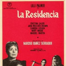 Cine: LA RESIDENCIA PROGRAMA SENCILLO REGIA CINE ESPAÑOL TERROR NARCISO IBAÑEZ SERRADOR. Lote 152062177