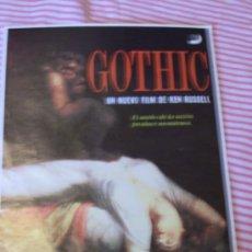 Cine: 'GOTHIC', DE KEN RUSSELL.. Lote 21760513