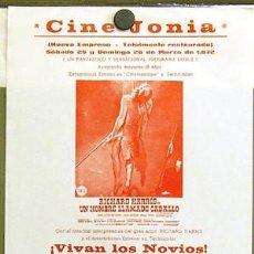 Cine: UN HOMBRE LLAMADO CABALLO PROGRAMA SENCILLO LOCAL RICHARD HARRIS. Lote 8574003