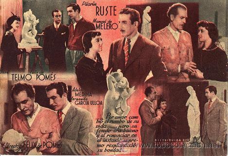 Cine: PILAR GUERRA (1941) - PROGRAMA DOBLE - PILARÍN RUSTE - MANUEL DE MELERO - Director: FÉLIX DE POMÉS - Foto 2 - 27252445