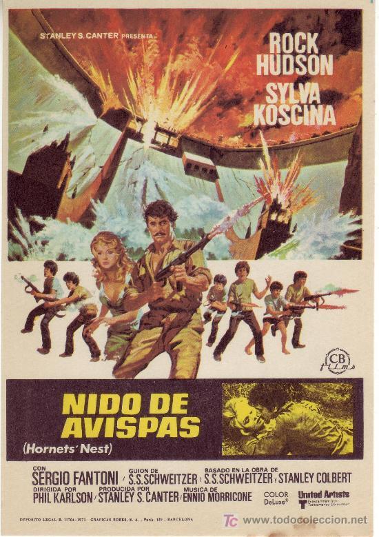 EL NIDO DE AVISPAS. SIN PROPAGANDA. AÑO 1971 (Cine - Folletos de Mano)
