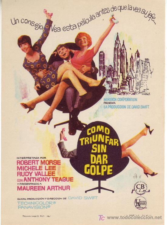 COMO TRIUNFAR SIN DAR GOLPE.SIN PROPAGANDA. AÑO 1967- (Cine - Folletos de Mano)