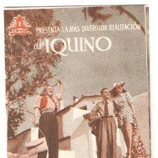 Flyers Publicitaires de films Anciens: VIVIENDO AL REVES PROGRAMA DOBLE CIFESA CINE ESPAÑOL ALICIA PALACIOS MARY SAMPERE MARTINEZ SORIA. Lote 12370832