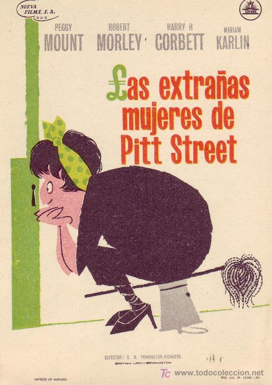 LAS EXTRAÑAS MUJERES DE PITT STREET. AÑO 1964 SIN PROPAGANDA. (Cine - Folletos de Mano)