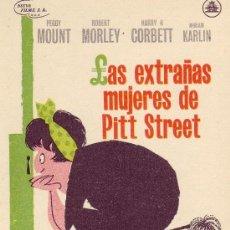 Cine: LAS EXTRAÑAS MUJERES DE PITT STREET. AÑO 1964 SIN PROPAGANDA.. Lote 13073126