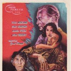 Cine: LOS HEROES ESTAN CANSADOS. SIN PROPAGANDA. AÑO 1960. Lote 24193840