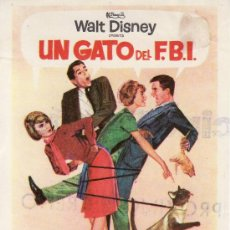 Cine: UN GATO DEL F.B.I. -PELICULA DE WALT DISNEY -SIN PROPAGANDA. MAS PROGRAMAS EN RASTRILLOPORTOBELLO. Lote 25159120
