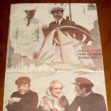 Cine: ANTIGUO Y ORIGINAL PROGRAMA DE MANO RUMBO AL CAIRO - CIFESA - REVERSO CON PUBLICIDAD DEL CINE OCTUBR. Lote 19112556