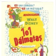 Cine: 101 DALMATAS PROGRAMA SENCILLO CHAMARTIN WALT DISNEY E. Lote 8959920