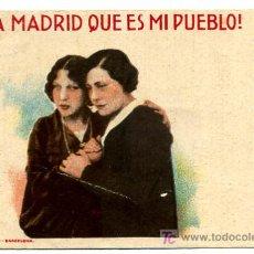 Cine: VIVA MADRID QUE ES MI PUEBLO , TARJETA, 1929 , S1353. Lote 25606699