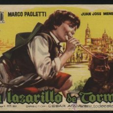 Cine: P-6676- EL LAZARILLO DE TORMES (MARCO PAOLETTI - JUANJO MENÉNDEZ). Lote 23669528