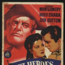 Cine: P-6310- DIEZ HEROES DE WEST POINT (TEN GENTLEMEN FROM WEST POINT) (SOLIGÓ) GEORGE MONTGOMERY. Lote 23683287