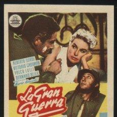 Cine: P-6304- LA GRAN GUERRA (LA GRANDE GUERRA) ALBERTO SORDI - VITTORIO GASSMAN - SILVANA MANGANO. Lote 23635883