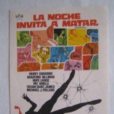 Cine: FOLLETO DE MANO - LA NOCHE INVITA A MATAR - FLORALVA CHUCK CONNORS JOAN BLONDELL GLORIA GRAHAME. Lote 9168462