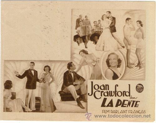 DANZAD LOCOS DANZAD PROGRAMA DOBLE FRANCES JOAN CRAWFORD CLARK GABLE (Cine - Folletos de Mano - Drama)