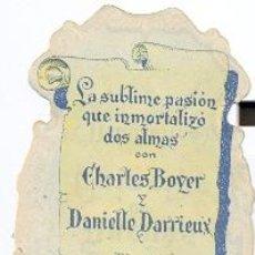 Cine: SUEÑOS DE PRINCIPE (MAYERLING), CHARLES BOYER, TROQUELADO. Lote 41796101