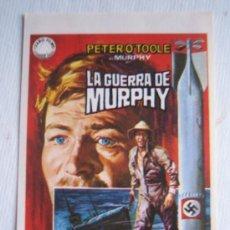 Cine: FOLLETO DE MANO - LA GUERRA DE MURPHY - IZARO PETER O'TOOLE SIAN PHILLIPS HORST JANSON. Lote 9707497