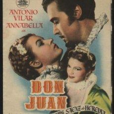 Cine: P-8850- DON JUAN (DOBLE) (TEATRO PRINCIPAL - ALCOY) ANTONIO VILLAR - ANNABELLA. Lote 24502071
