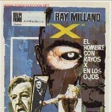 Cine: X EL HOMBRE CON RAYOS X EN LOS OJOS , SENCILLO , SIN CINE , PMD 310. Lote 139405249
