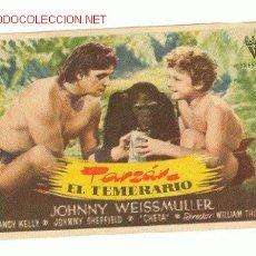 Cine: TARZAN EL TEMERARIO - CON JOHNNY WEISSMULLER,PUBLICIDAD. Lote 23213666