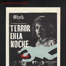 Cine: TERROR EN LA NOCHE. Lote 1045863