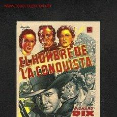 Cine: EL HOMBRE DE LA CONQUISTA (WESTERN). Lote 1047730