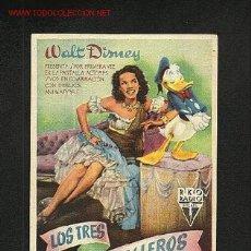 Cine: LOS TRES CABALLEROS (WALT DISNEY). Lote 1080905