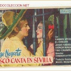 Cine: JALISCO CANTA EN SEVILLA - JORGE NEGRETE Y CARMEN SEVILLA. Lote 27250236