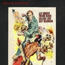 Folhetos de mão de filmes antigos de cinema: LA ULTIMA BATALLA DE LOS APACHES (LEX BARKER, PIERRE BRICE) (WESTERN). Lote 1148404