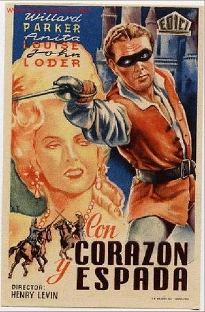 CON CORAZON Y ESPADA PM2061 (Cine - Folletos de Mano)