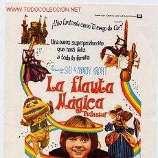 Cine: LA FLAUTA MAGICA , PMD 329. Lote 1208495