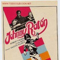 Cine: JOHNNY RATON , SENCILLO , ORIGINAL , SIN CINE , PMD 203. Lote 1014339