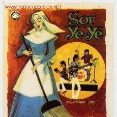 Flyers Publicitaires de films Anciens: SOR YE-YE , ORIGINAL SENCILLO , SIN CINE , PMD 217. Lote 58148152
