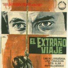 Cine: FERNANDO FERNAN-GOMEZ - JESUS FRANCO - CARLOS LARRAÑAGA - EL EXTRAÑO VIAJE - ESCRITO CINE DORSO JANO. Lote 8631559