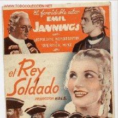 Cine: EL REY SOLDADO , TARJETA PM2961. Lote 16046332