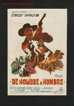 DE HOMBRE A HOMBRE (WESTERN) (Cine - Folletos de Mano - Westerns)